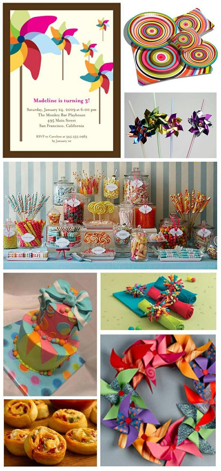 Pinwheel party, Ellie loves pinwheels this is a cute idea