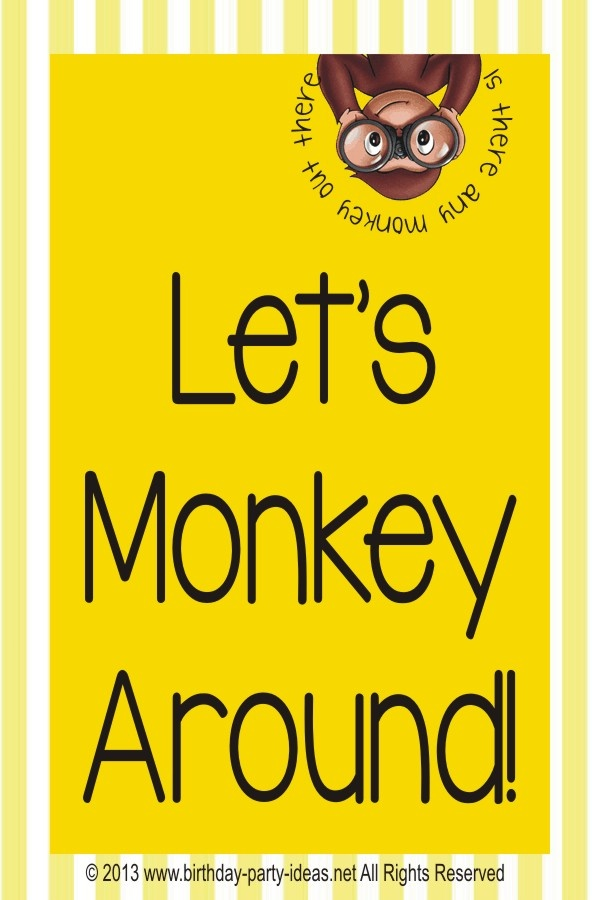 Best theme party for Curious George Birthday Party #CuriousGeorge #party #birthday #decoration #cakes #favors #themedbirthday #games #printable #quotes #invitation #sayings #birthdaypartyideas #bpartyideas