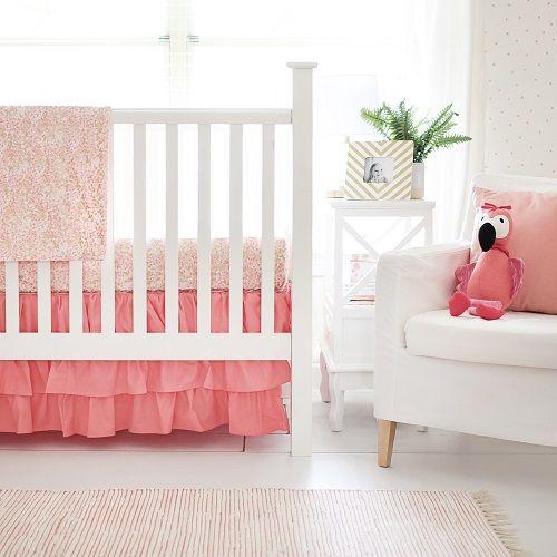 Coral Crib Bedding | Coral Nursery Design