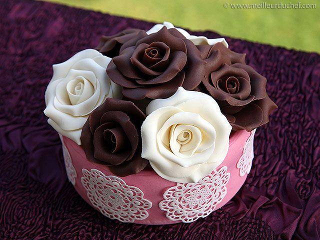 Rose en chocolat plastique - Meilleur du Chef