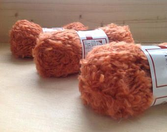 DOLL HAIR -Mohair Boucle Yarn ~ ORANGE ~ 10-50g options by appleoakfibreworks. Explore more products on http://appleoakfibreworks.etsy.com