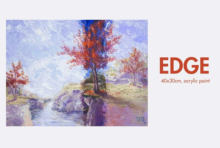 Edge Original Painting Landscape