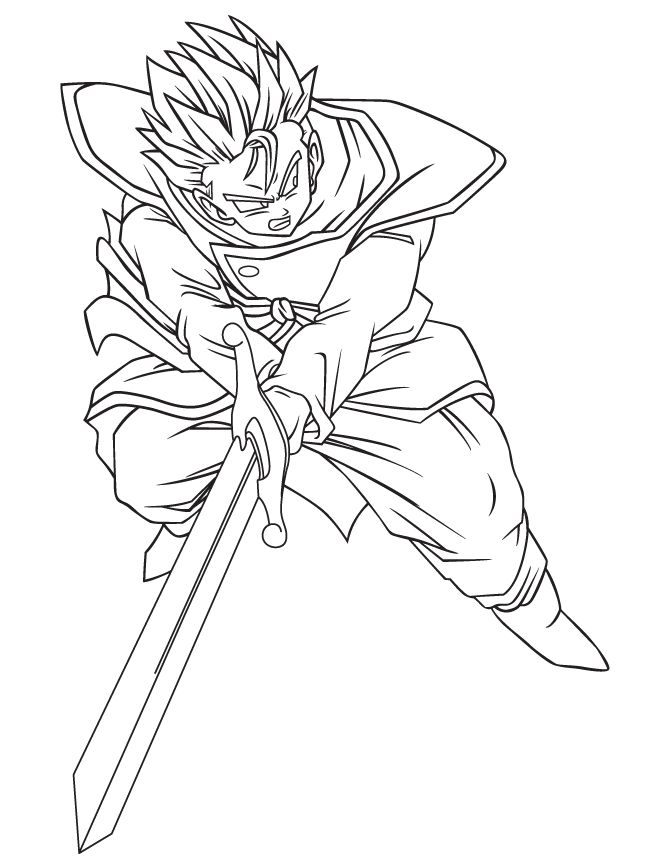 dragon ball z son gohan was practicing coloring pages for kids printable dragon ball z coloring pages for kids - Dragon Ball Coloring Pages Goku