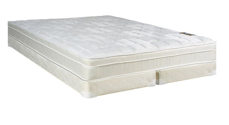 Continental Sleep Plush Quilted Euro Top Orthopedic Ultimate 10-Inch Mattress and Low Profile 5-Inch Split Box Spring, Full, White