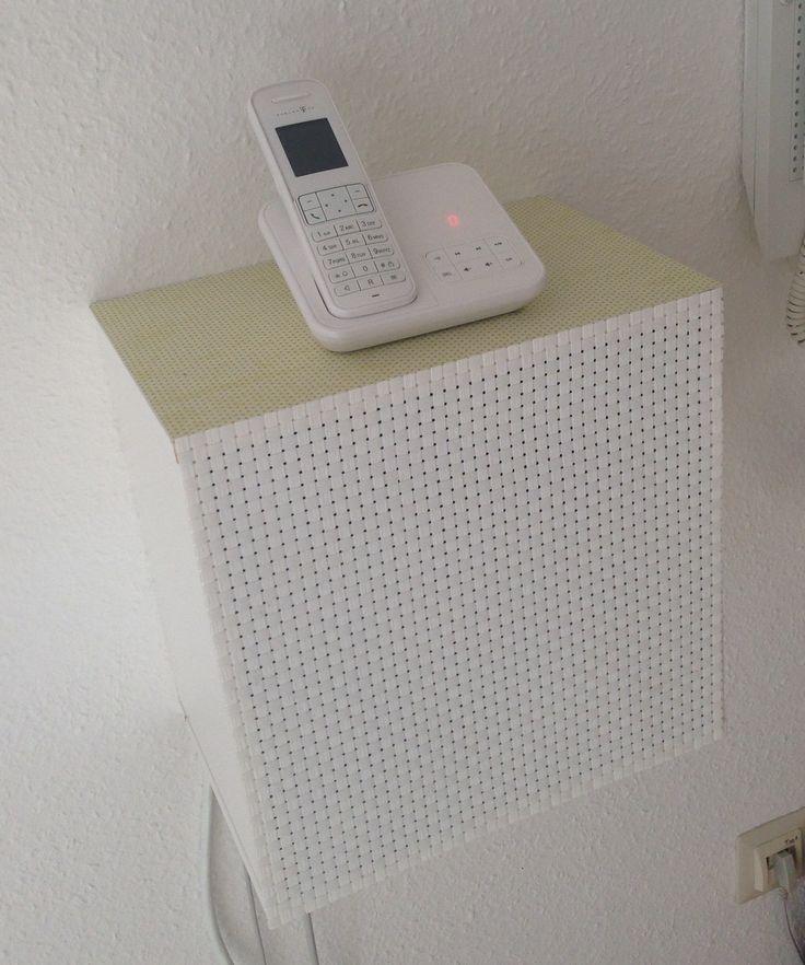 #DIY Telefon-Schrank aus Ikea Wandregal #förhöja #fritzbox