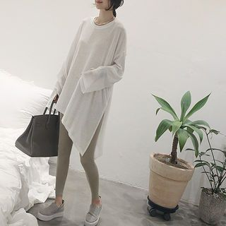 Buy NANING9 Asymmetric-Hem Long T-Shirt at YesStyle.com! Quality products at remarkable prices. FREE WORLDWIDE SHIPPING on orders over US$ 35.