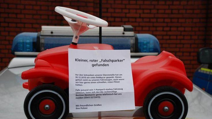 """Osnabrücker Polizei sucht Bobby-Car-Besitzer: """"Kleiner roter Falschparker gefunden"""" - SPIEGEL ONLINE - Nachrichten - Panorama"""