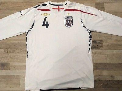 England  #4 2007-2009 Steven Gerrard Umbro long sleeve shirt jersey Size L   eBay