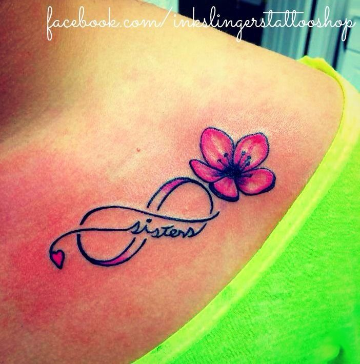 Sister tattoo with birth flower