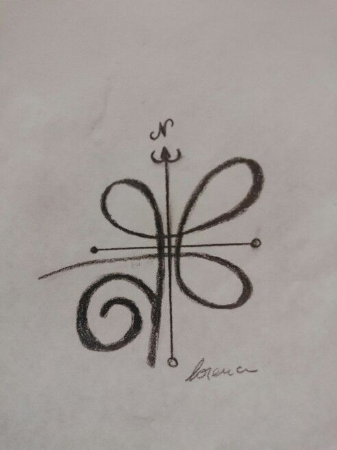 My next tattoo!  This is the celtic symbol for strength and the arrows fron the compass that always guide you to go ahead and keep going