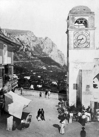 Piazzetta - Capri Foto d'epoca -
