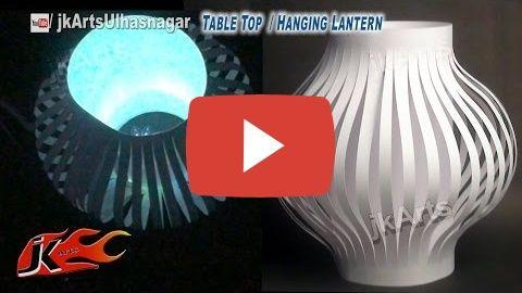 DIY Paper Lantern / Aakash Kandil Decoration | Table Top and Hanging | How to make | JK Arts 587