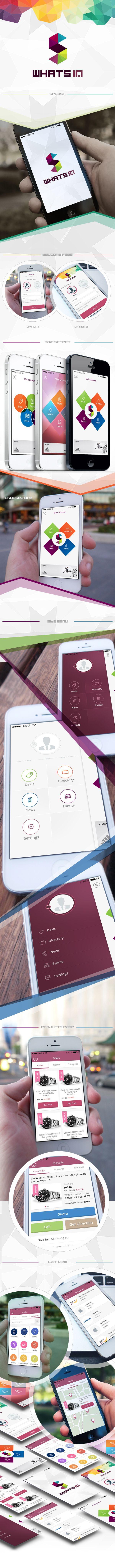 whats in mobile app by Mohammed Agwa, via Behance