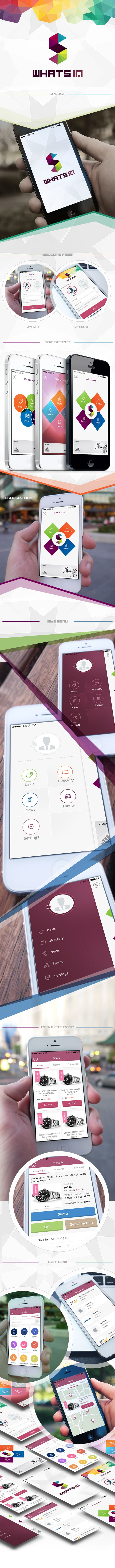 whats in mobile app by Mohammed Agwa, via Behance