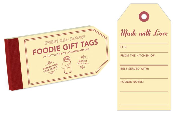 Foodie Gift Tags