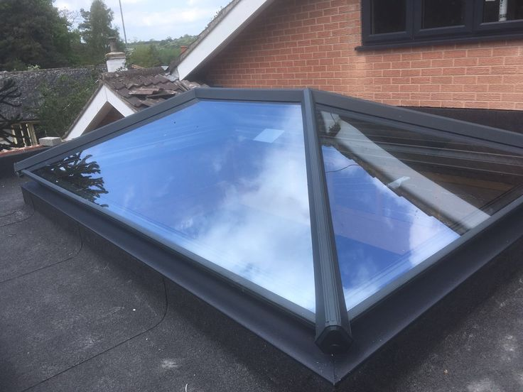Grey Skypod Lantern Roof, Including Self Clean Neutral Glazing. Installed in East Leake, Leicestershire. Telephone 01158 660066 http://thenottinghamwindowcompany.co.uk or Visit our showroom in West Bridgford. #grey #skypod #sky #pod #lantern #roof #nottingham #notts #TNWC #derby #leicester      #doubleglazing #double #glazing #self #clean #selfclean #neutral