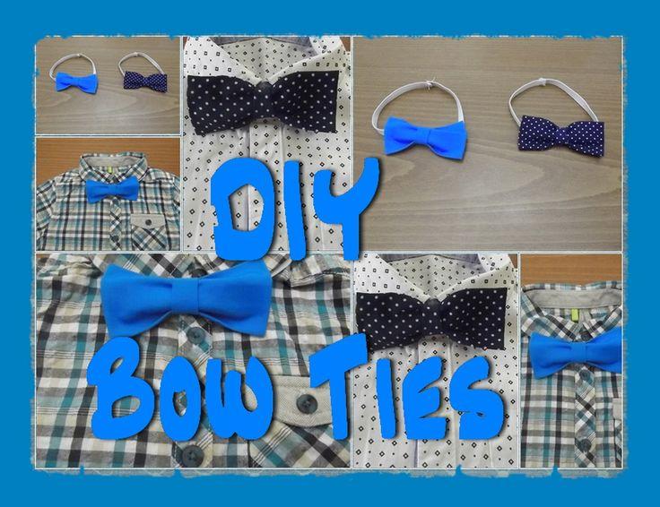 Ideas for moms - DIY Bow ties / Πώς φιάχνουμε Παπιγιόν