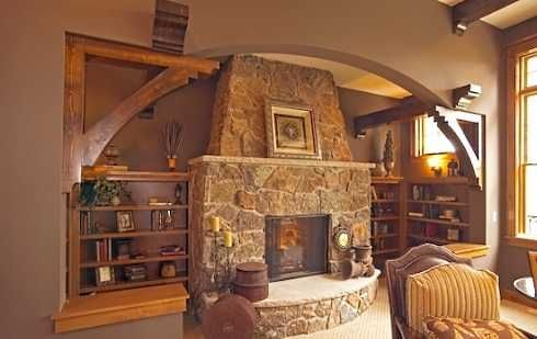 Stone alcove fireplace - Google Search