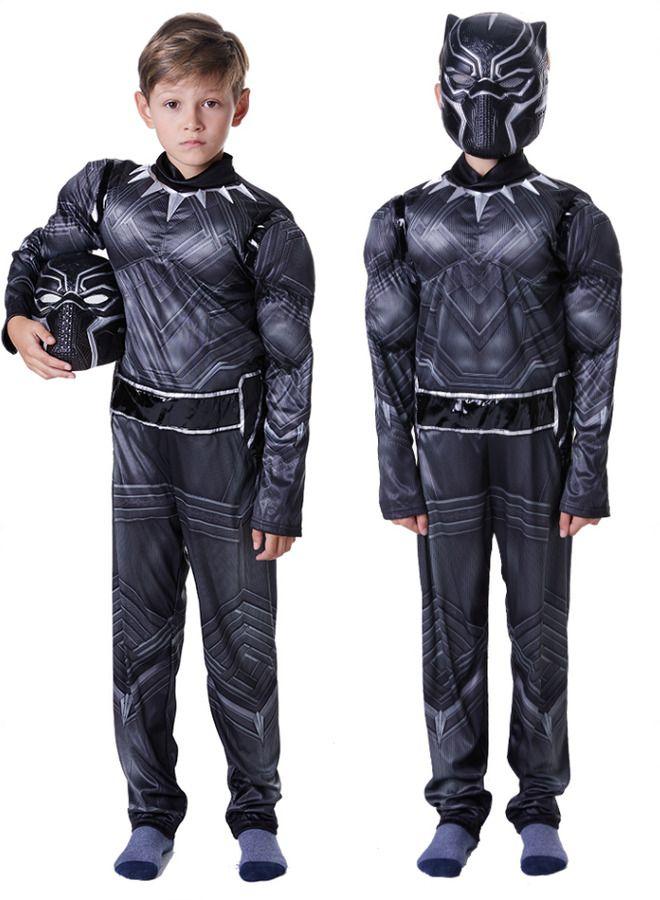 Black Panther Kids Boy Black Panther Costume Superhero Cosplay Party Dress Gift