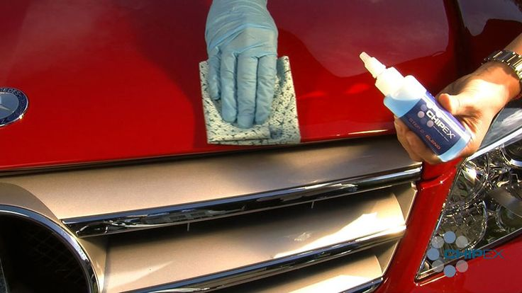 How Chipex Car Touch Up Paint Works Step 2 - Blending Solution  Once the paint is touch dry, apply a small quantity of the blending solution to the paper cloth.
