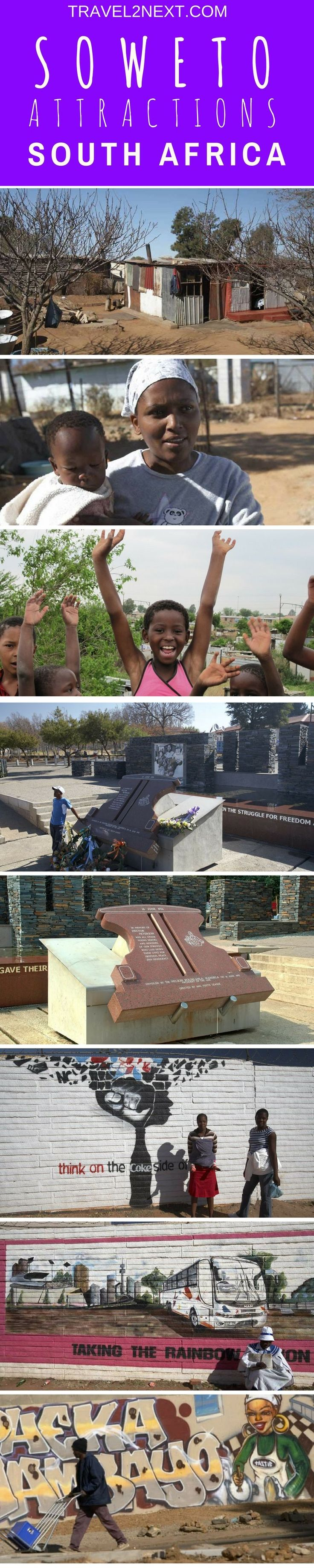 Soweto Attractions. A tour of Soweto South Africa reveals the heart and soul of Johannesburg.