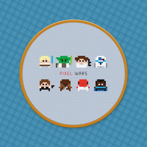 Star Wars Cross Stitch PDF Pattern Download by pixelpowerdesign, $4.00