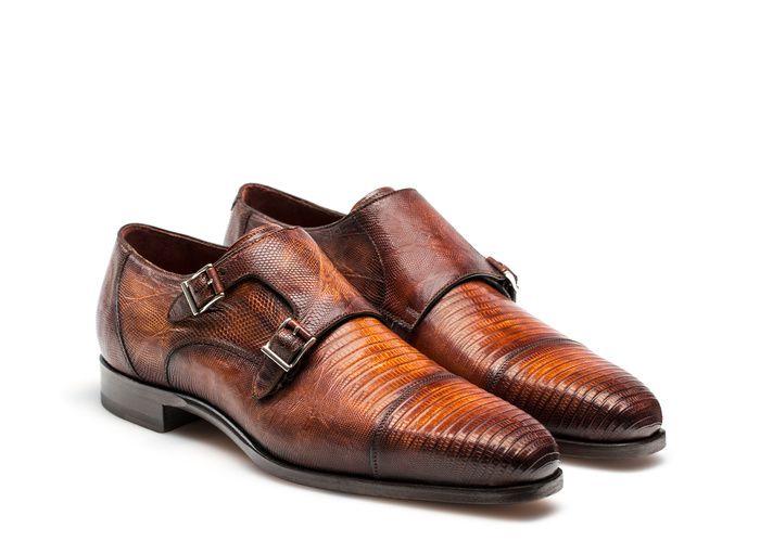 a0f8d979c46 Isaac | Cognac | Men's Shoes | Double monk strap shoes, Monk strap ...