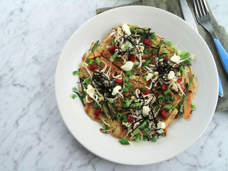 Japansk grönsakspannkaka - Okonomiyaki | Recept från Köket.se