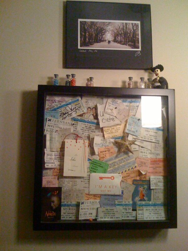 keep all your old ticket stubs, but don't know what to do with them? turn them into a cool art project!