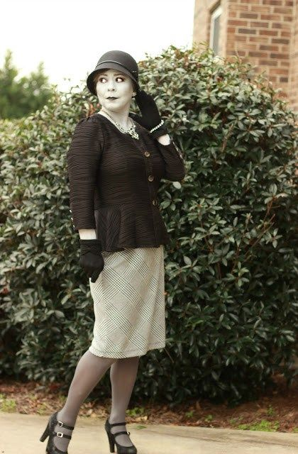Grayscale costume, DIY costume for women, black and white costume