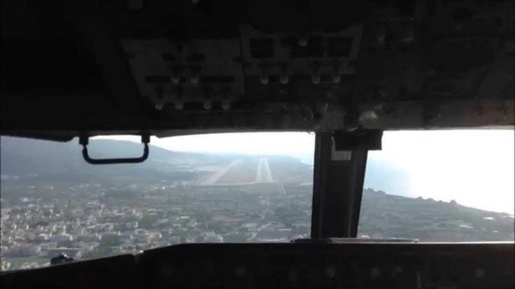 Landing Airplane at Rhodes Airport || Посадка Самолёта на Остров Родос Г...