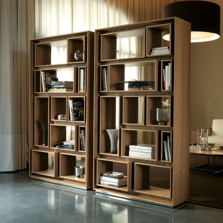 Contemporary bookcase in Canaletto walnut or spessart oak. Smaller porada  fancy bookcase also available. Mobili Domani at the Forefront of  Contemporary ...