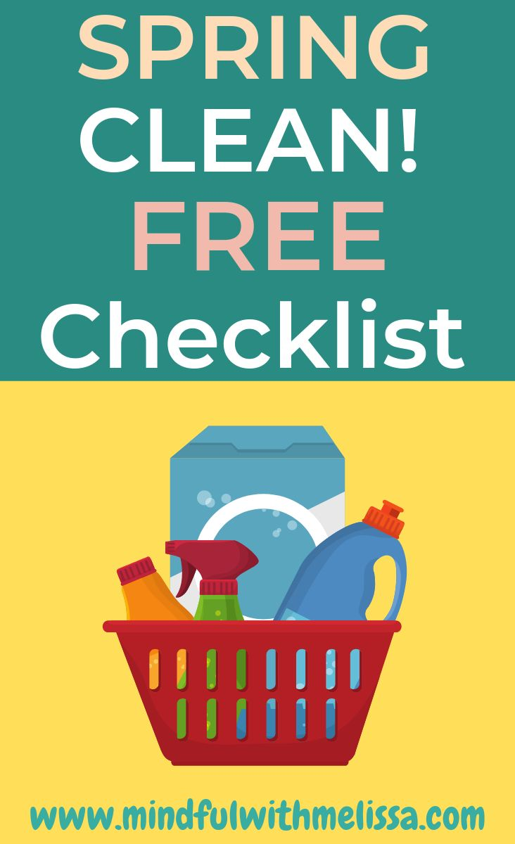 Get our Ultimate Spring Cleaning List for FREE!  Check off your huge cleaning li…