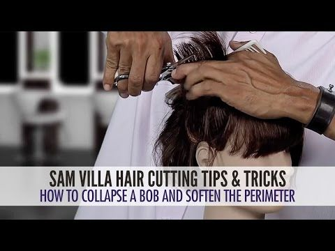 How To Soften The Perimeter And Collapse The Shape Of A Bob Haircut | Sam Villa - Professionals