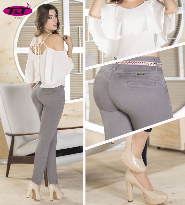 Cuando hablamos de feminidad y diseños de moda; no podemos olvidar los pantalones en dril, nunca pasarán de moda y siempre serán una prenda ideal para acompañar tu outfit diario, sin importar el color siempre vas a dar un toque de elegancia a tu look. T&T Jeans te presenta una excelente combinación: Blusa beige en capas, pantalón en dril color gris y unos hermosos zapatos de tacón elaborados en charol #YoVistoTyt #ModaDril