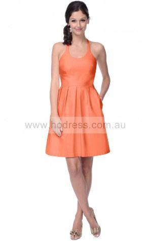Lace Halter Natural A-line Knee-length Bridesmaid Dresses 0800059--Hodress