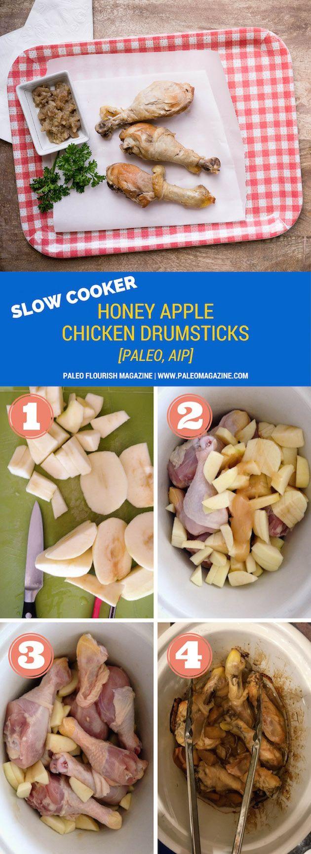 Paleo Slow Cooker Honey Apple Chicken Drumsticks Recipe - http://paleomagazine.compaleo-slow-cooker-apple-honey-chicken-drumsticks-recipe