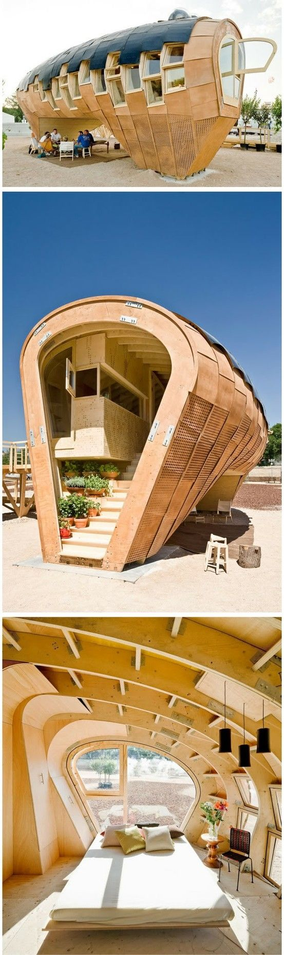 Fab Lab House from Institute of Advanced Architecture of Catalonia http://www.iaac.net/ eco-friendly house generates 3x more energy than it by kristine