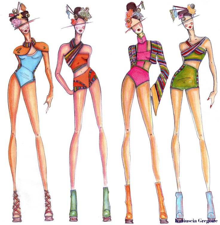 Image detail for -Fashion Illustration, lostluxuries: FASHION ILLUSTRATION Swimwear...