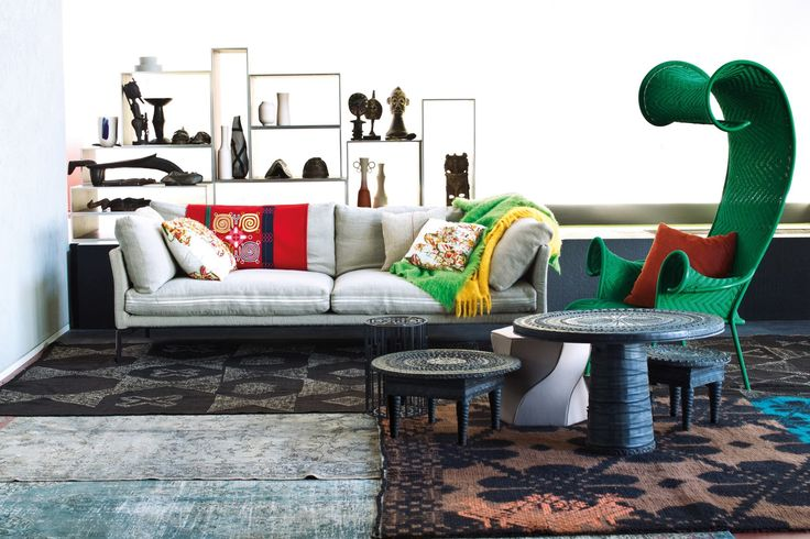 Bunt ist Trumpf: die Shadowy Chaise Longue Liege M' Afrique Collection Moroso