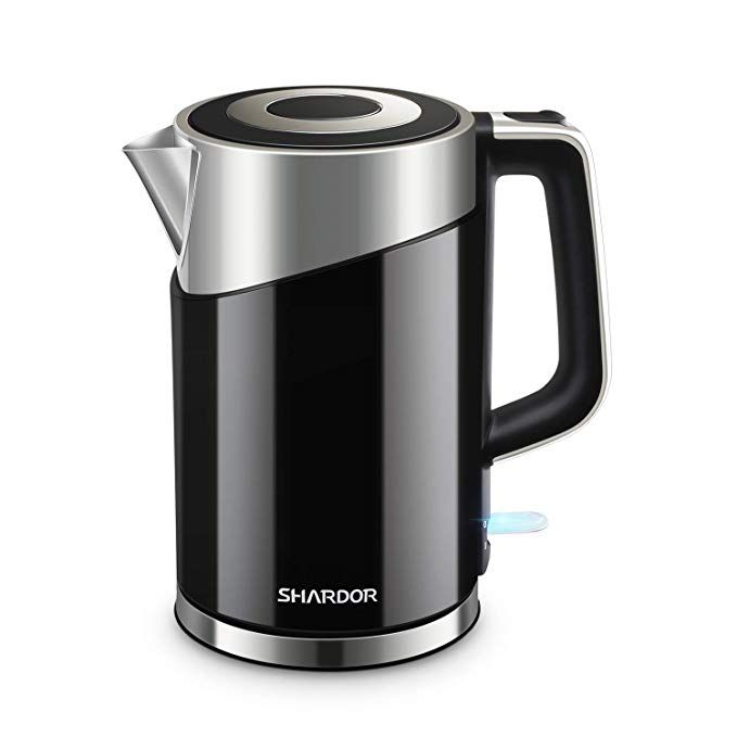 Shardor Electric Kettle Stainless Steel Hot Water Kettle 1500w Fast Boiling With Auto Shut Off And Boil Dry Protectioni ˆ Electric Kettle Water Kettle Kettle