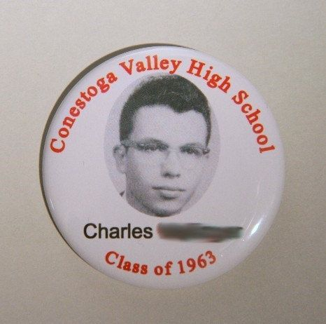 "Reunion Pin back button - OR Design your own 2.25"" - Class reunion name tag - High school reunion name tags - College reunion name tags"