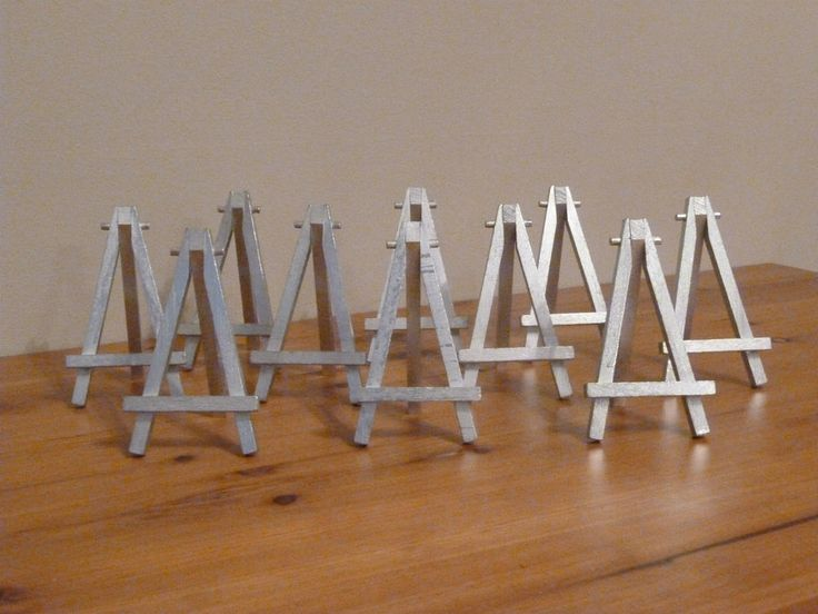 10 X Postcard Size Silver Easels   Wedding Table Number Holder