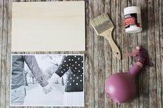 Bild auf Holz übertragen DIY Tutorial - so kannst du deine eigene Holzpostkarte gestalten. Auf die Rückseite einfach noch einen Text schreiben und fertig ist das Geschenk.