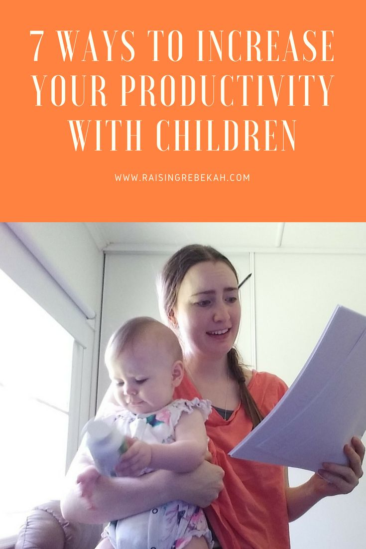 Do you struggle with productivity as a mom? Do you need help finding balance and structure to meet your needs whilst looking after your children? Here are 7 ways to increase your productivity with children...