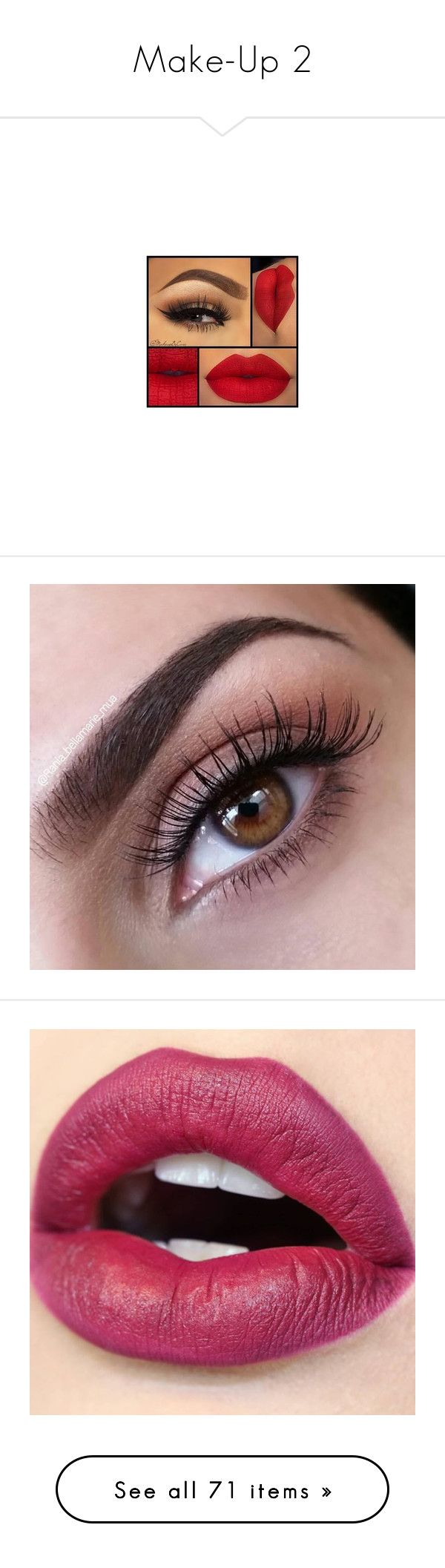 """""""Make-Up 2"""" by gisella-jb-pintos ❤ liked on Polyvore featuring beauty products, makeup, lips, beauty, eyes, eye makeup, anastasia beverly hills, anastasia beverly hills cosmetics, brow makeup and eyebrow cosmetics"""