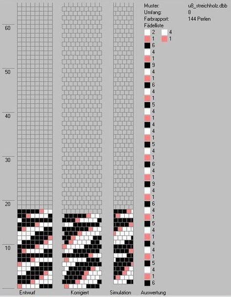 Schlauchketten häkeln - Musterbibliothek: u8_streichholz