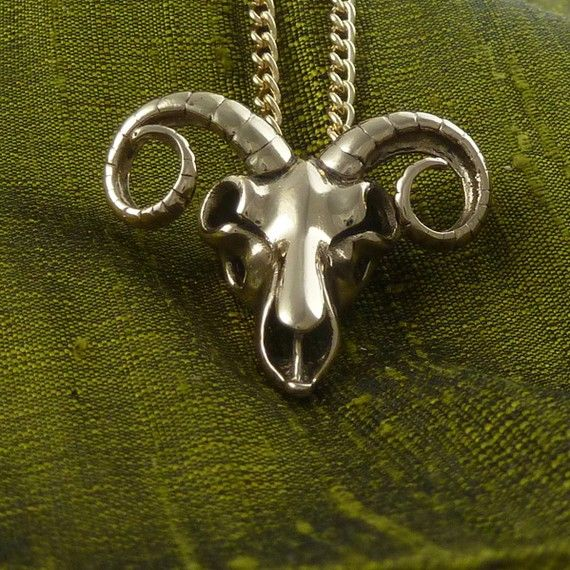 Ram Skull Zodiac Necklace