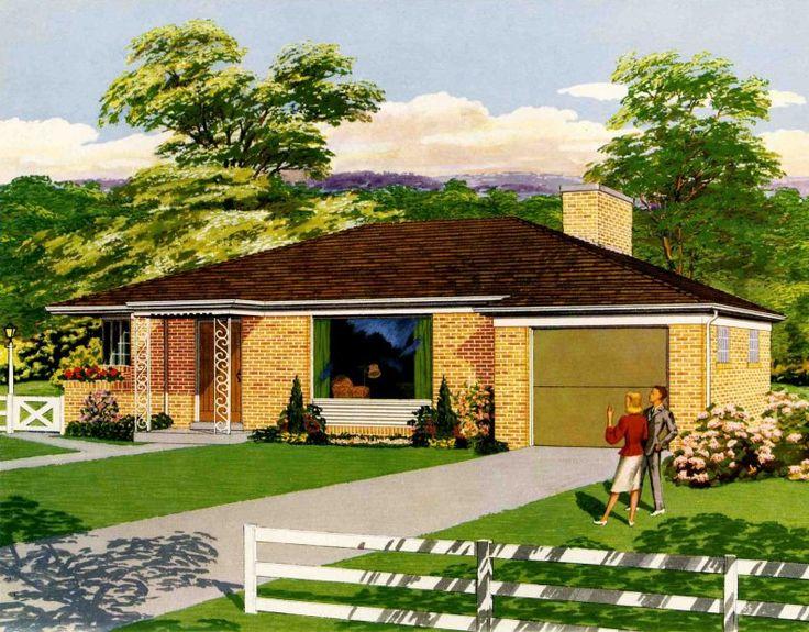 Suburban Dream Home - 1950House Design, Dreams Home, 1950S Dreams, 1950S American, Dreams House, Mid Century, 1950S Suburban, Suburban Dreams, American Dreams