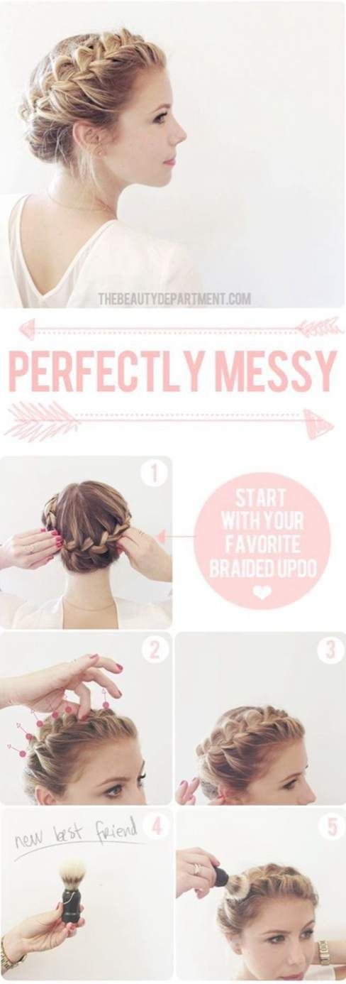 Easy Braided Updos For Shoulder Length Hair : 8 best images about 10 minutos para mí on pinterest